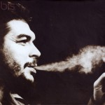 Poster portrait of Che Guevara smoking a cigar