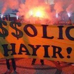 say no to FAŞŞOLİG - refers to Passolig (FAŞO means Fascist in slang)