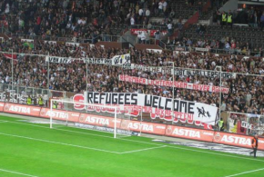 German Ultras: Refugees Welcome